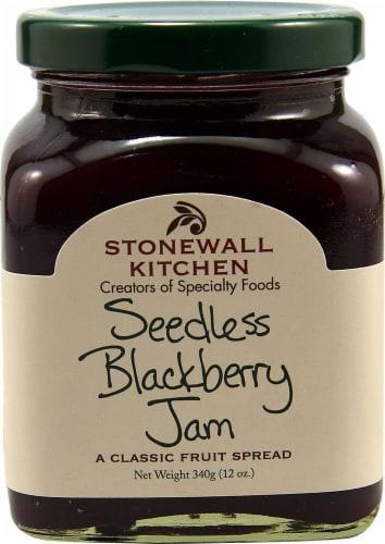 Stonewall Kitchen Seedless Blackberry Jam Perspective: front