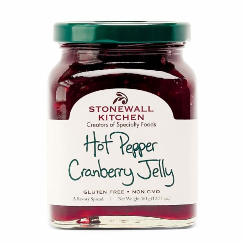 Stonewall Kitchen  Hot Pepper Cranberry Jelly Perspective: front