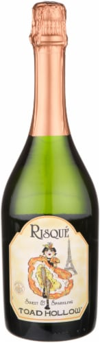 Toad Hollow Risque Sweet & Sparkling Wine Perspective: front