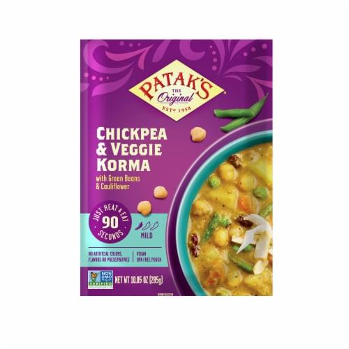 Patak's Chickpea & Veggie Korma Perspective: front