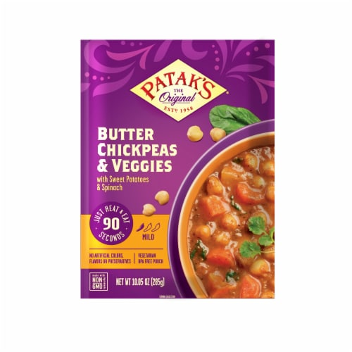 Patak's Butter Chickpeas & Veggies Perspective: front