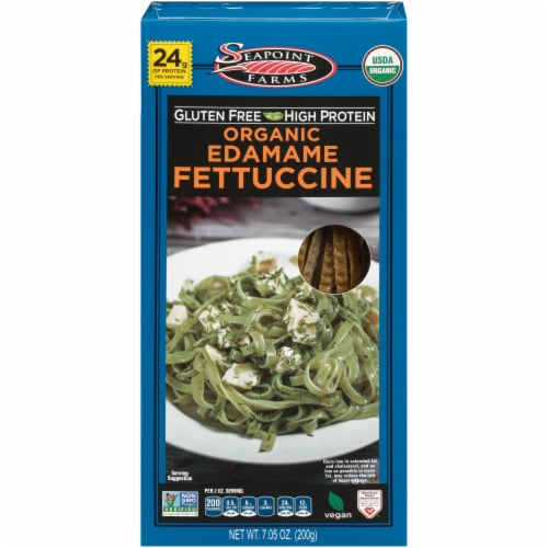 Seapoint Farms Organic Edamame Fettuccine Perspective: front