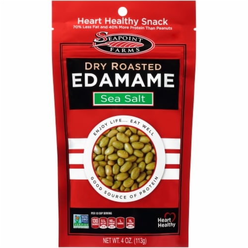 Seapoint Farms Lightly Dry Roasted Sea Salt Edamame Perspective: front