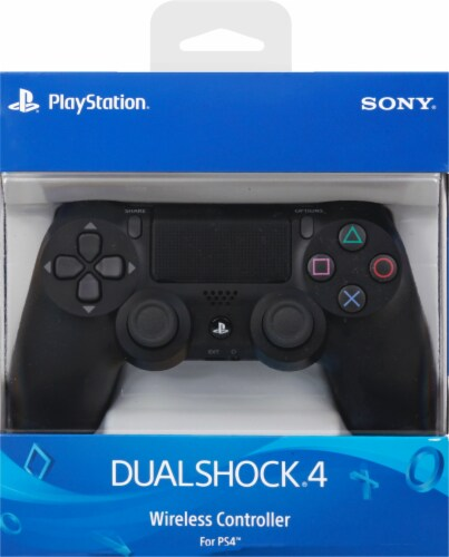 Sony PlayStation4 DualShock4 Wireless Controller - Jet Black Perspective: front
