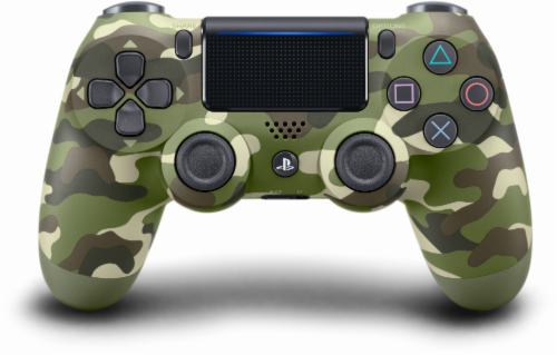 Sony PlayStation4 DualShock4 Wireless Controller - Green Camo Perspective: front