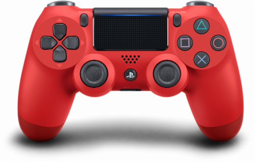 Sony PlayStation4 DualShock4 Wireless Controller - Magma Red Perspective: front
