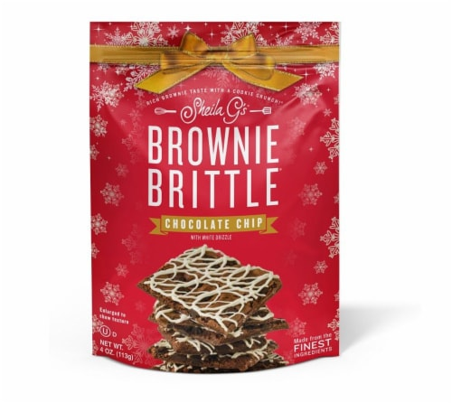Sheila G's Chocolate Chip Brownie Brittle Perspective: front