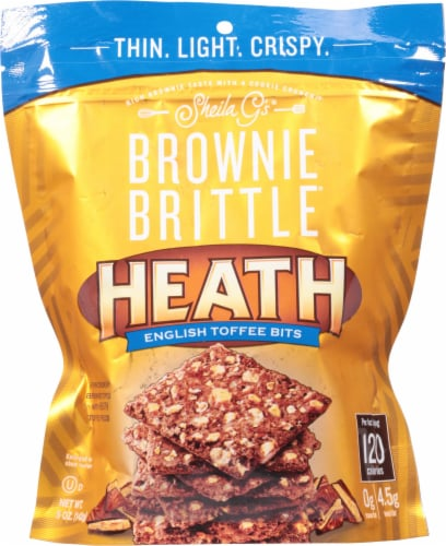 Sheila G's Heath English Toffee Brownie Brittle Perspective: front