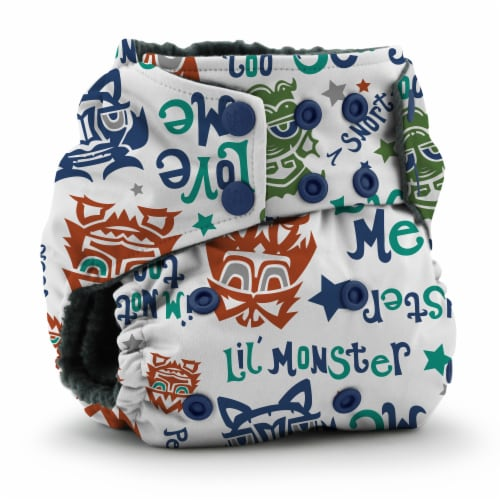 Kanga Care Rumparooz OBV One Size Pocket Cloth Diaper | Lil Monster Reboot (6-40lbs) Perspective: front