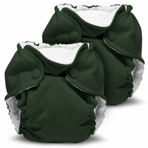 Kanga Care Lil Joey Newborn All in One AIO Cloth Diaper (2pk) Pine 4-12lbs Perspective: front