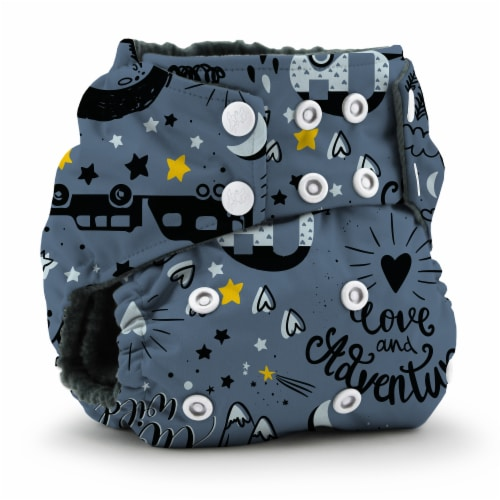 Kanga Care Rumparooz OBV One Size Pocket Cloth Diaper | Wander (6-40lbs) Perspective: front