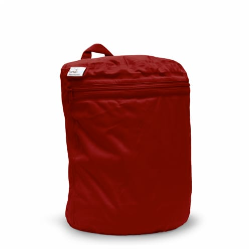 Kanga Care 3D Dimensional Seam Sealed Wet Bag Mini   Scarlet Perspective: front