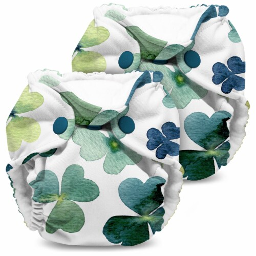 Kanga Care Lil Joey Newborn All in One AIO Cloth Diaper (2pk) Clover 4-12lbs Perspective: front