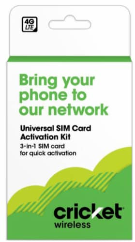 Cricket BYOD Activation Kit Perspective: front