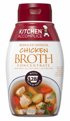 Kitchen Accomplice Reduced Sodium Chicken Broth Perspective: front