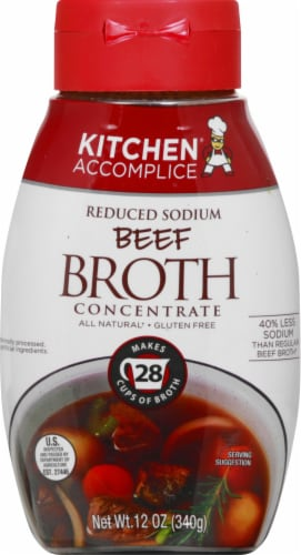 Kitchen Accomplice Reduced Sodium Beef Style Broth Concentrate Perspective: front