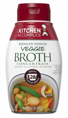 Kitchen Accomplice Reduced Sodium Veggie Broth Concentrate Perspective: front