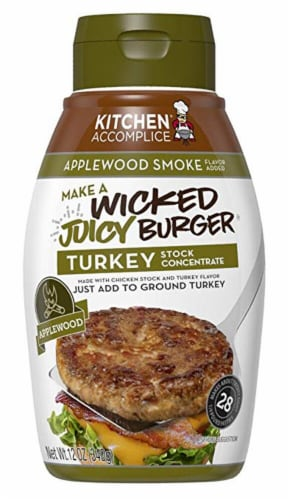 Kitchen Accomplice Applewood Smoke Wicked Juicy Burger Turkey Stock Concentrate Perspective: front