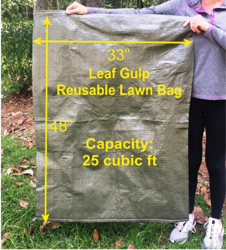 Leaf Gulp Reusable Lawn Bag Perspective: front