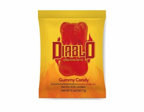 Diablo Chamoy Chili Seasoned Gummy Bears Perspective: front