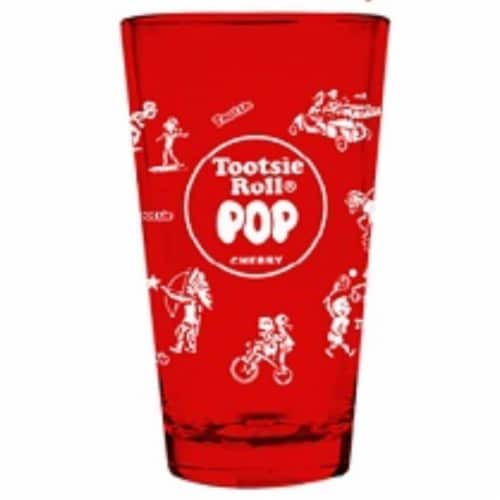 Imaginarium Goods Tootsie Roll Pint Glass, 16 oz. Perspective: front