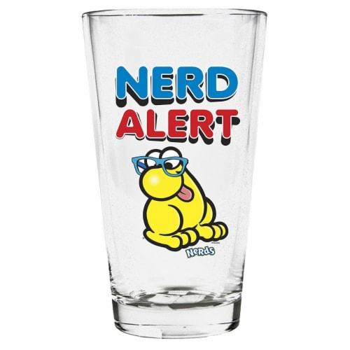 Imaginarium Goods GLS-NES-ALERT Nerd Pint Glass, Nerd Alert Perspective: front