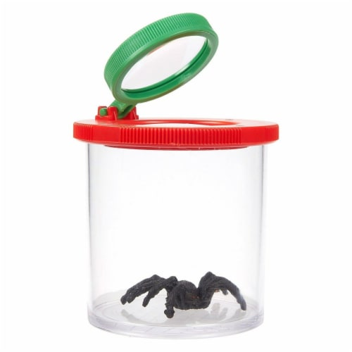 Kid Insect Catcher Bug Viewer Box Jar with 3X Magnifying Lens, 2.5x3.1x2.5 In Perspective: front