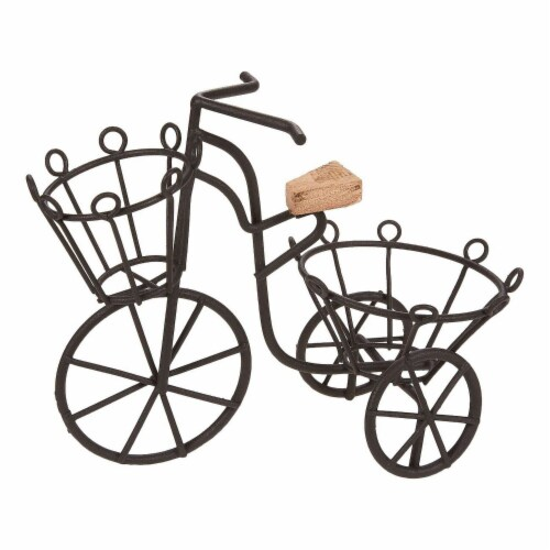Miniature Plant Iron Bicycle Stand Holder for Garden Decor, Indoor, Outdoor Perspective: front