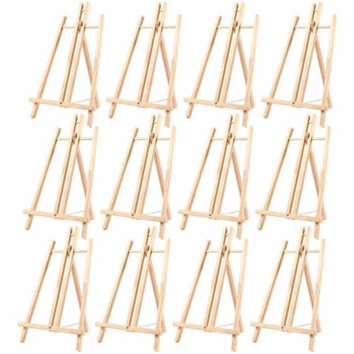 Wood Easels, Easel Stand for Painting, Art, and Crafts (9 x 14.8 in, 12 Pack) Perspective: front
