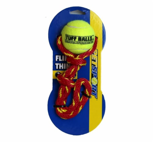 Petsport Fling Thing Tuff Balls Dog Toy Perspective: front