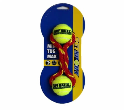 Petsport Mini Tug Max Tuff Balls Dog Toy Perspective: front