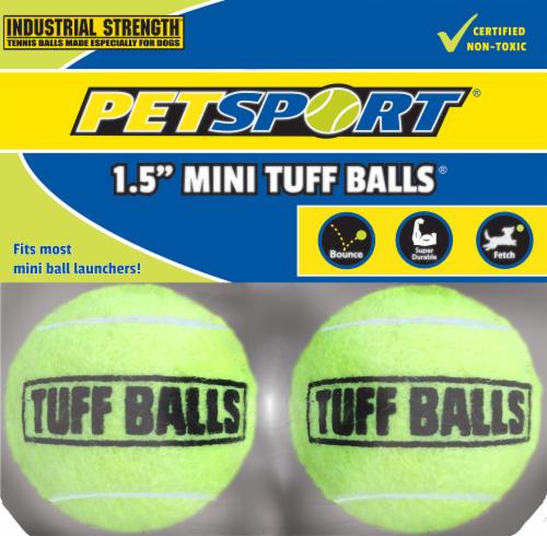 """PetSport 1.5"""" Mini Tuff Balls Perspective: front"""