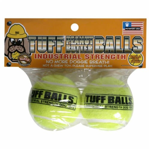 PetSport Tuff Peanut Butter Balls Twin Pack Perspective: front