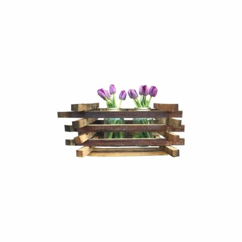 DonovanMaker wbmount-large Wine Barrel Wall Mounted Planter  Large Perspective: front