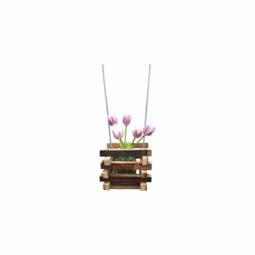 DonovanMaker wbhang-small Wine Barrel Hanging Planter  Small Perspective: front