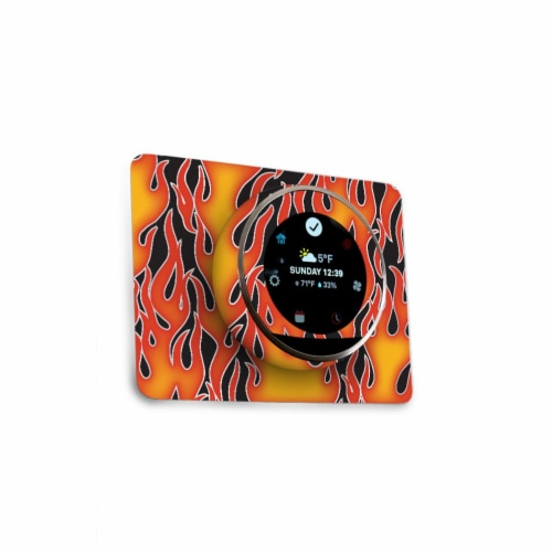 MightySkins NETH-Hot Flames Skin for Nest Thermostat - Hot Flames Perspective: front