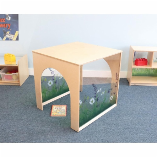 Whitney Brothers WB0442 Nature View Play House Cube, Natural Perspective: front