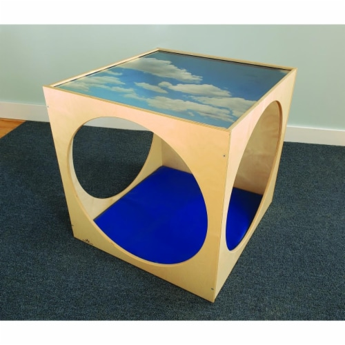 Whitney Brothers WB2122 Plexi Top Play House Cube with Floor Mat Set - 29 x 30 x 29 in. Perspective: front