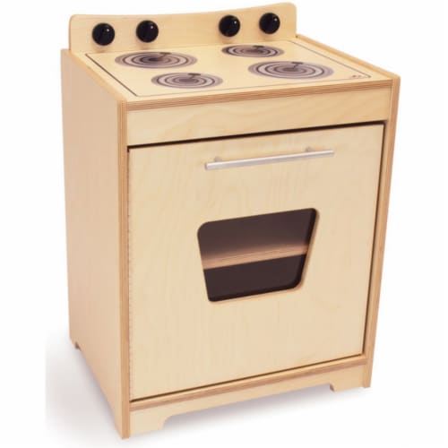 Whitney Brothers WB6420N Natural Doors Contemporary Stove, Natural UV Perspective: front