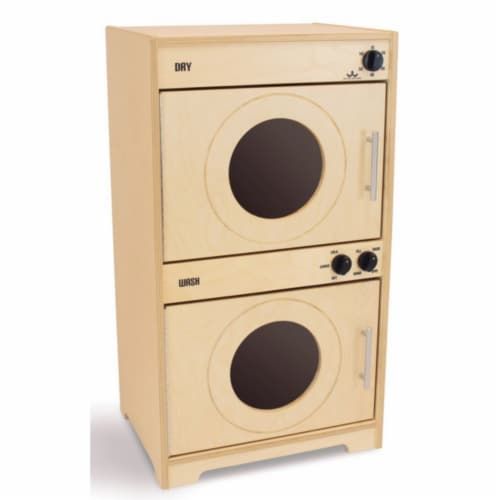 Whitney Brothers WB6450N Natural Doors Contemporary Washer & Dryer, Natural UV Perspective: front