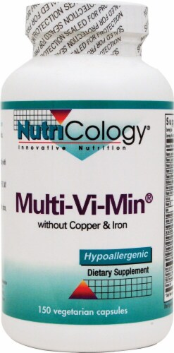 NutriCology  Multi-Vi-Min without Copper and Iron Perspective: front