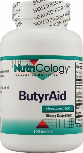 NutriCology ButyrAid Tablets Perspective: front