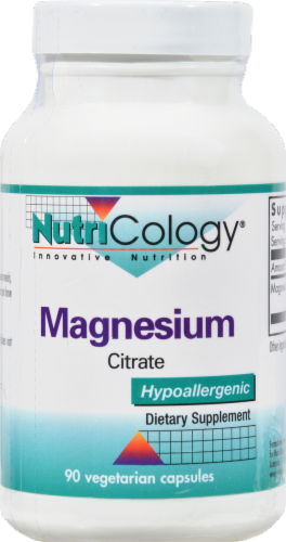 Nutricology Magnesium Citrate Perspective: front