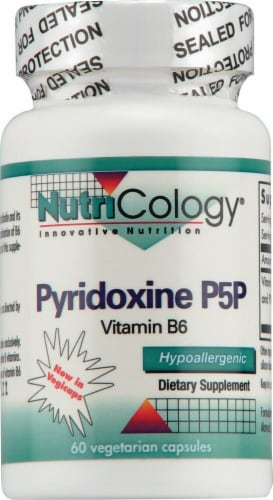 NutriCology  Pyridoxine P5P Vitamin B6 Perspective: front
