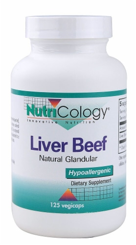 NutriCology  Liver Beef Natural Glandular Perspective: front