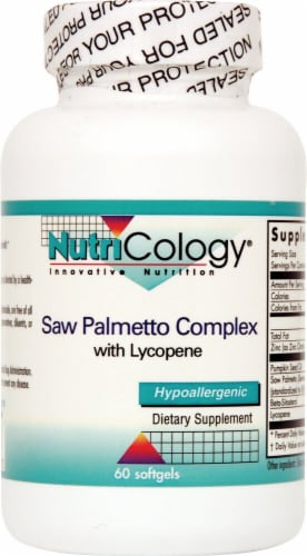 NutriCology  Saw Palmetto Complex with Lycopene Perspective: front