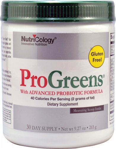 NutriCology  Pro Greens With Advanced Probiotic Formula Perspective: front