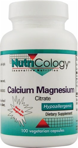 Nutricology Calcium Magnesium Citrate Perspective: front