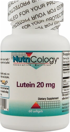 NutriCology Lutein Softgels 20mg Perspective: front