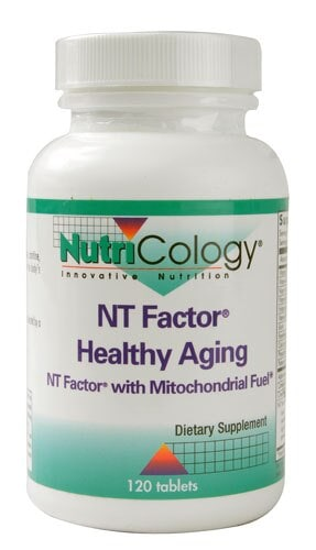 NutriCology  NT Factor® Healthy Aging with Mitochondrial Fuel Perspective: front